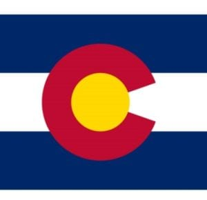 Portion of CO state flag